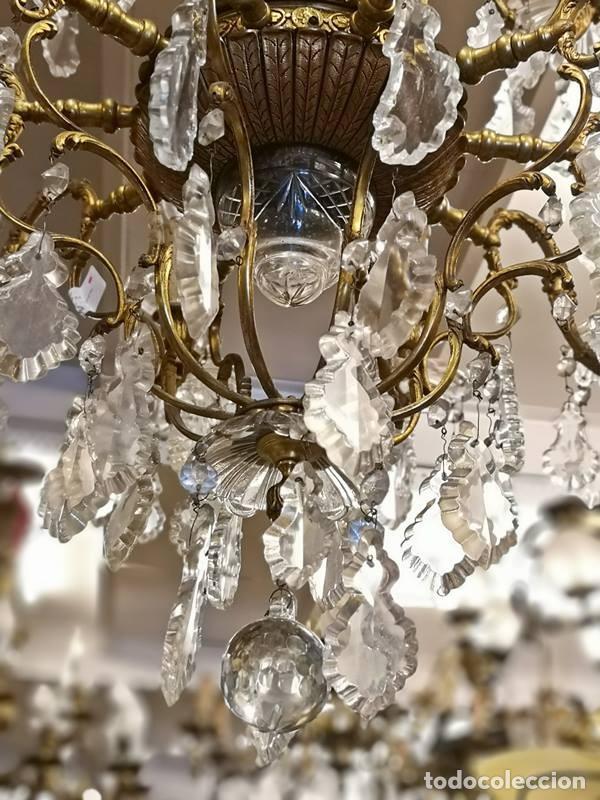 Antigüedades: Lampara de techo 15 luces. - Foto 3 - 142203306