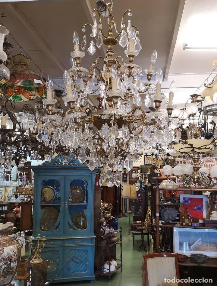 Antigüedades: Lampara de techo 15 luces. - Foto 4 - 142203306