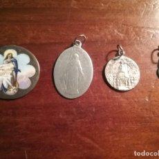 Antigüedades: LOTE 4 MEDALLAS PLATA RELIGIOSAS . Lote 142204830