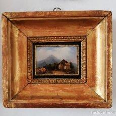 Antigüedades: CARNET DE BAILE SIGLO XIX CON MINIATURA PINTADA Y ENMARCADO. Lote 142221658
