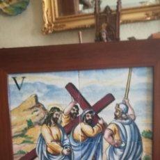 Antigüedades: ANTIGUO CUADRO DE CERÁMICA FIRMADO POR EL GENIAL MAESTRO PINTOR VICENTE QUISMONDO. Lote 142245980