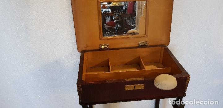 Antigüedades: COSTURERO CON DETALLES EN BRONCE Y MARQUETERIA - Foto 6 - 142264034