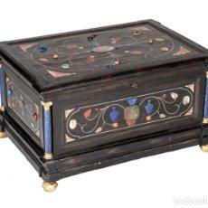 Antigüedades: CAJA FLORENTINA DEL S. XVII PIEDRAS DURAS Y MARFIL. Lote 142276866