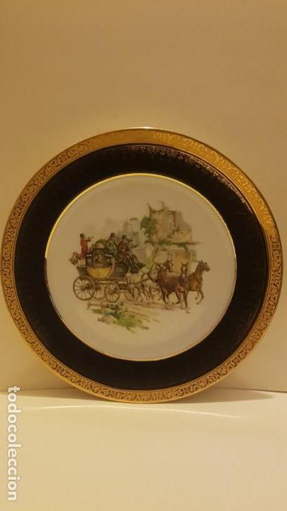 PLATO EN PORCELANA LIMOGES FRANCIA (Antigüedades - Porcelana y Cerámica - Francesa - Limoges)