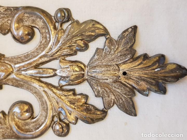 Antigüedades: Dos apliques de plata. Siglo XVIII - Foto 3 - 142283882