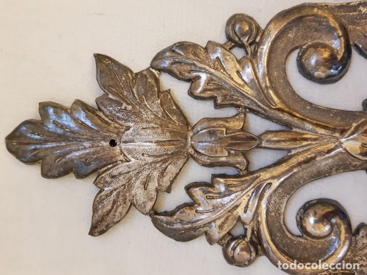 Antigüedades: Dos apliques de plata. Siglo XVIII - Foto 4 - 142283882