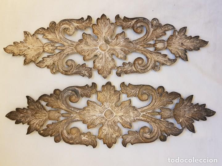 Antigüedades: Dos apliques de plata. Siglo XVIII - Foto 5 - 142283882