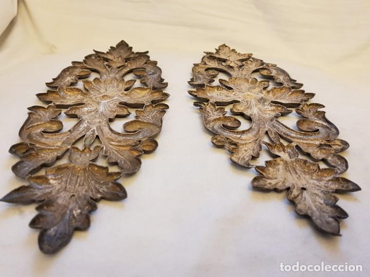 Antigüedades: Dos apliques de plata. Siglo XVIII - Foto 6 - 142283882