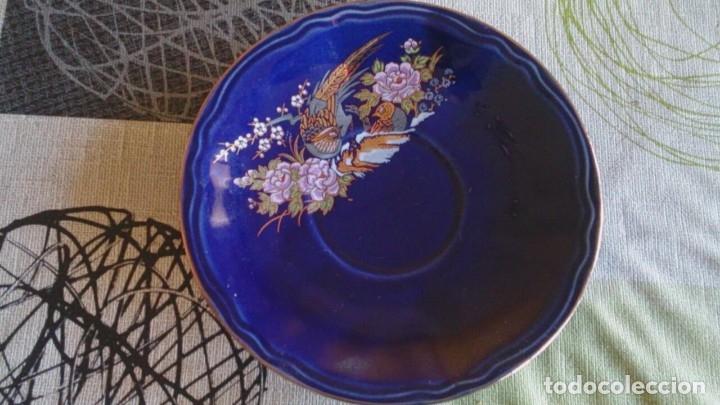 Antigüedades: Juego cafè japonès eiho azul ,para 5 personas - Foto 8 - 52749074