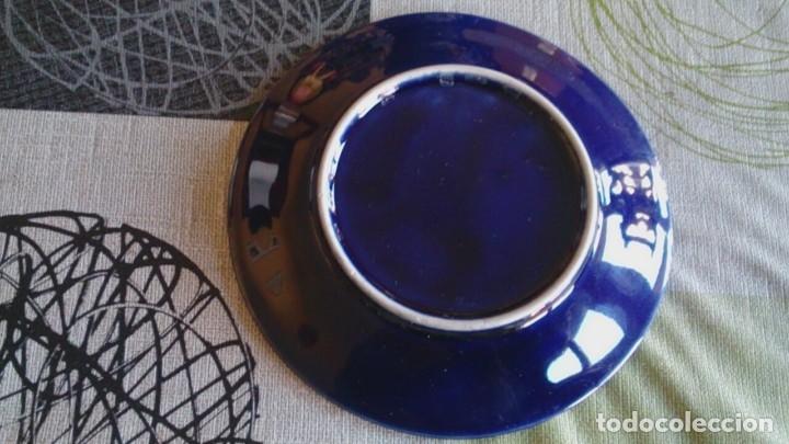 Antigüedades: Juego cafè japonès eiho azul ,para 5 personas - Foto 9 - 52749074