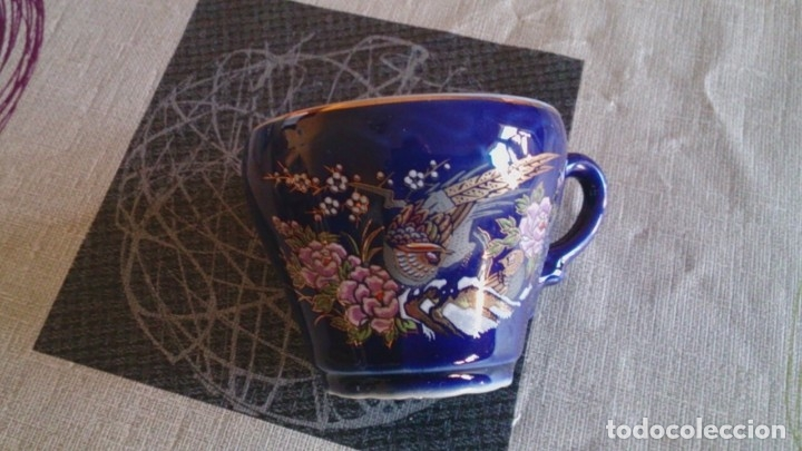 Antigüedades: Juego cafè japonès eiho azul ,para 5 personas - Foto 11 - 52749074