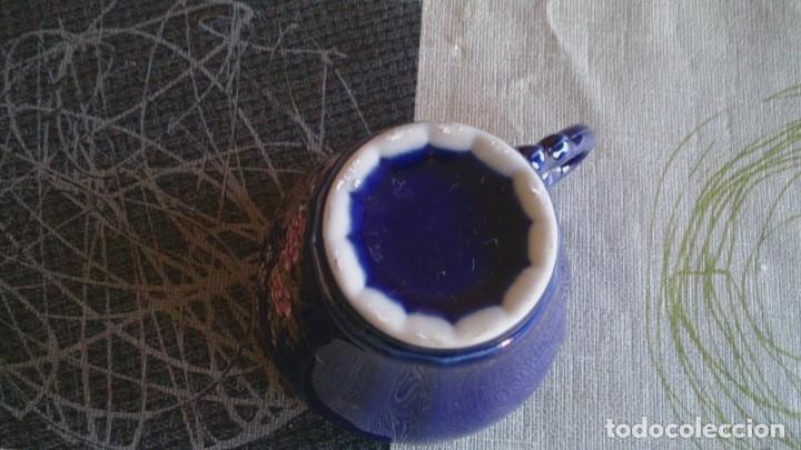Antigüedades: Juego cafè japonès eiho azul ,para 5 personas - Foto 12 - 52749074