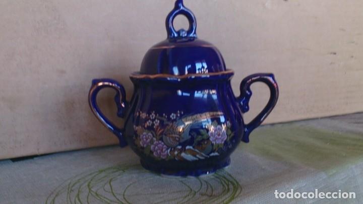 Antigüedades: Juego cafè japonès eiho azul ,para 5 personas - Foto 13 - 52749074