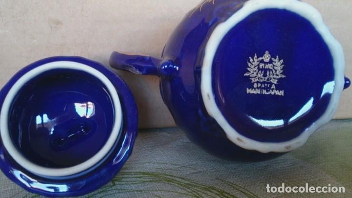 Antigüedades: Juego cafè japonès eiho azul ,para 5 personas - Foto 17 - 52749074