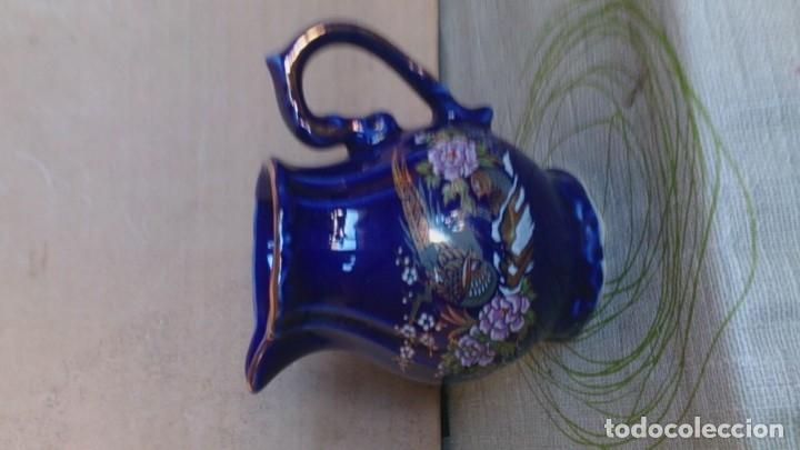 Antigüedades: Juego cafè japonès eiho azul ,para 5 personas - Foto 18 - 52749074