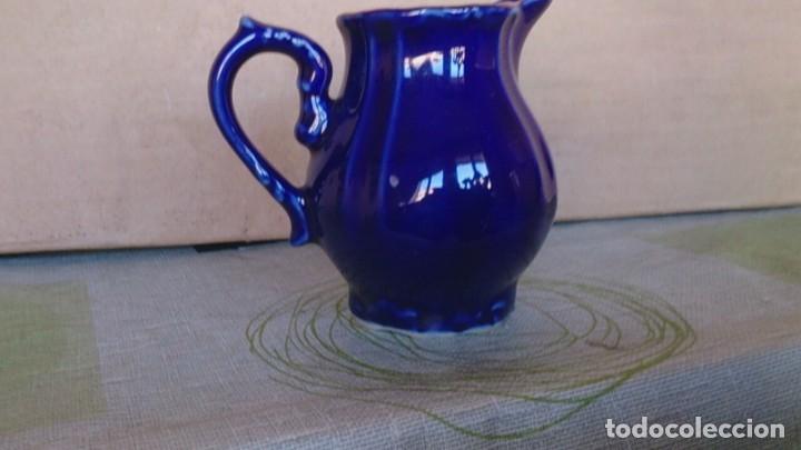 Antigüedades: Juego cafè japonès eiho azul ,para 5 personas - Foto 20 - 52749074