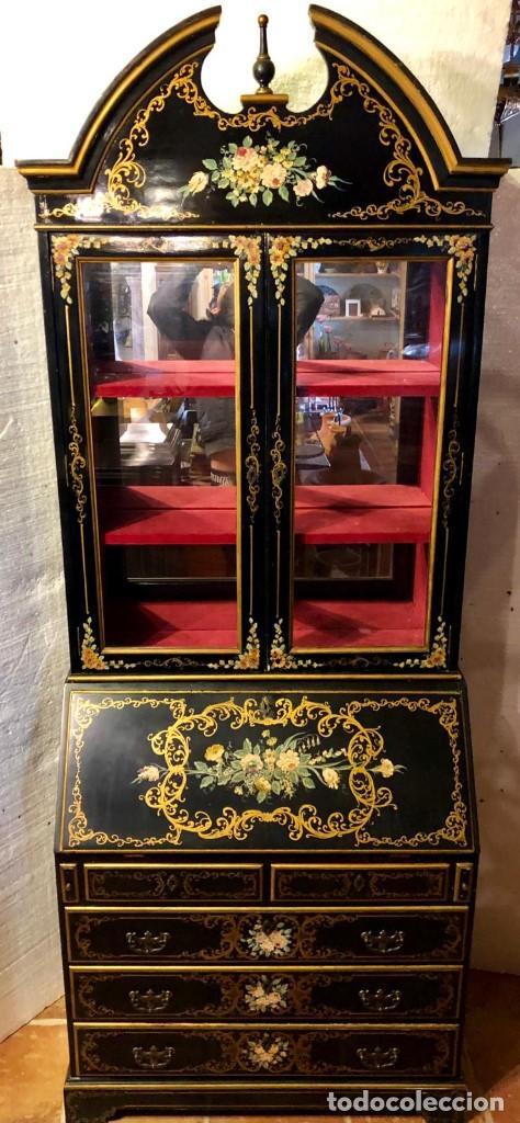 ESCRITORIO VITRINA (Antigüedades - Muebles Antiguos - Escritorios Antiguos)