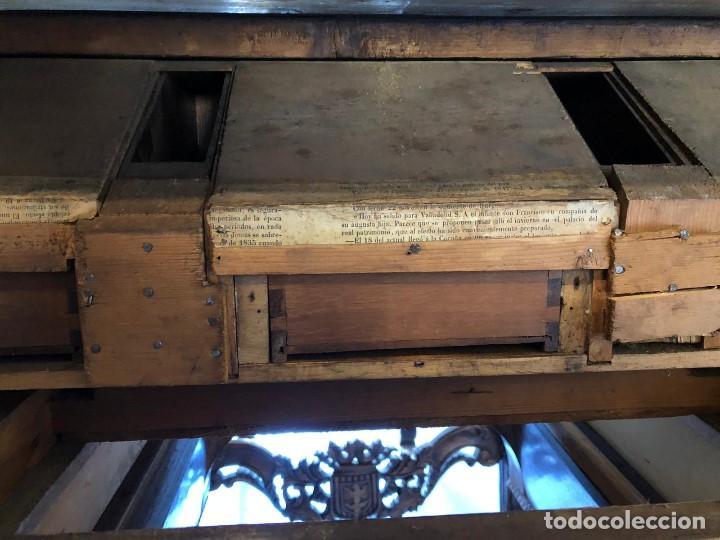 Antigüedades: ESCRITORIO DE PERSIANA MADERA DE NOGAL - Foto 8 - 142324182