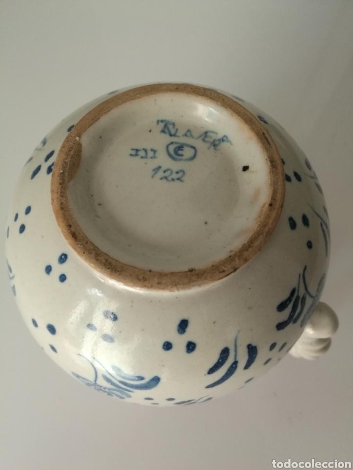Antigüedades: RUIZ DE LUNA TALAVERA JARRA DE BOLA MARIPOSAS PÁJARO - Foto 13 - 142325149