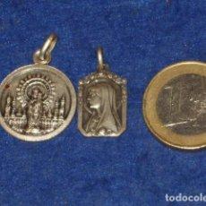 Antigüedades: MEDALLA DE LA VIRGEN DEL PILAR Y VIRGEN DE LOURDES DE PLATA.. Lote 142367518