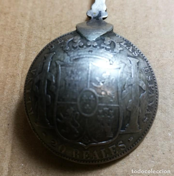 Antigüedades: RARA Y ANTIGUA CUCHARILLA DE INCENSARIO. PLATA. SANTIAGO.SIGLO XIX. MONEDA ISABEL II 1862 - Foto 6 - 142367866