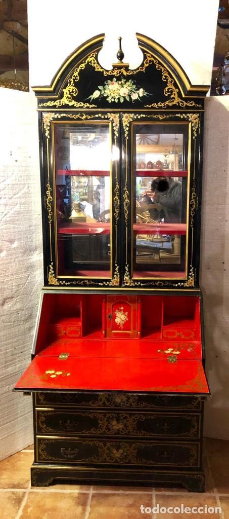 Antigüedades: ESCRITORIO VITRINA - Foto 2 - 142310510