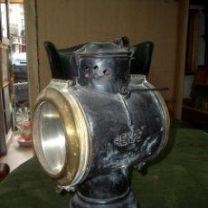 Antigüedades: ANTIGUO FAROL DE TREN DE COLA RENFE. Lote 142405502