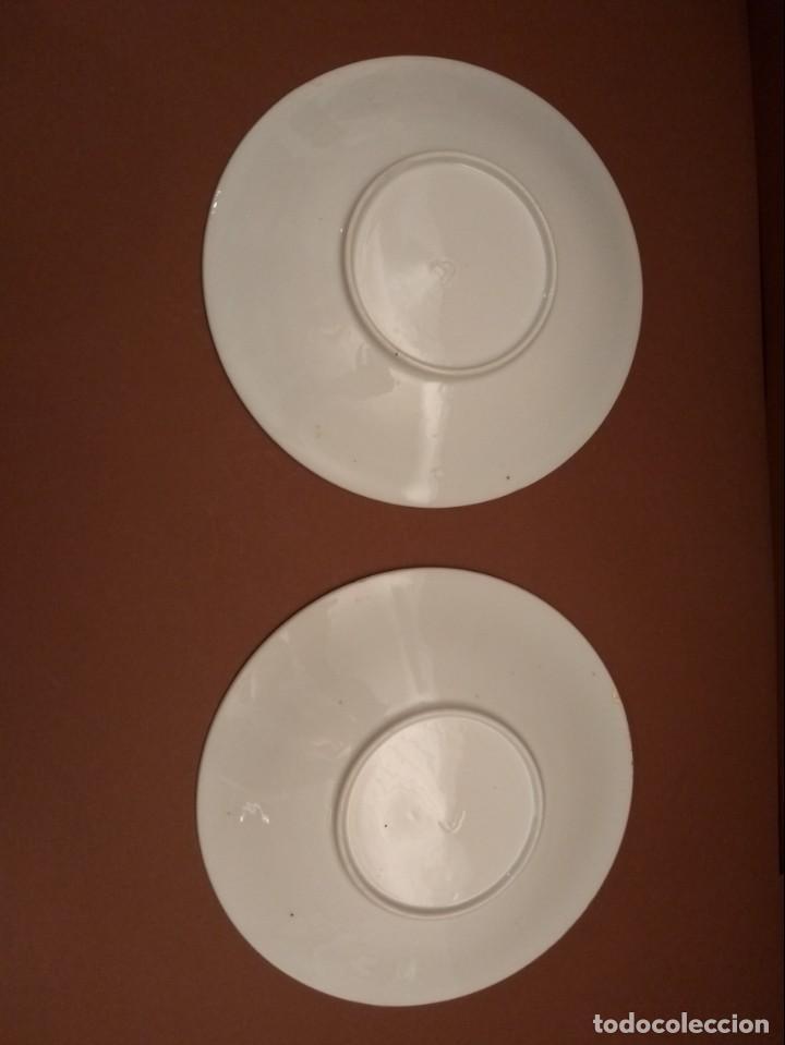 Antigüedades: Juego de 2 platos decoración dorada. Castro Sargadelos. Dolmen - Foto 3 - 142405958