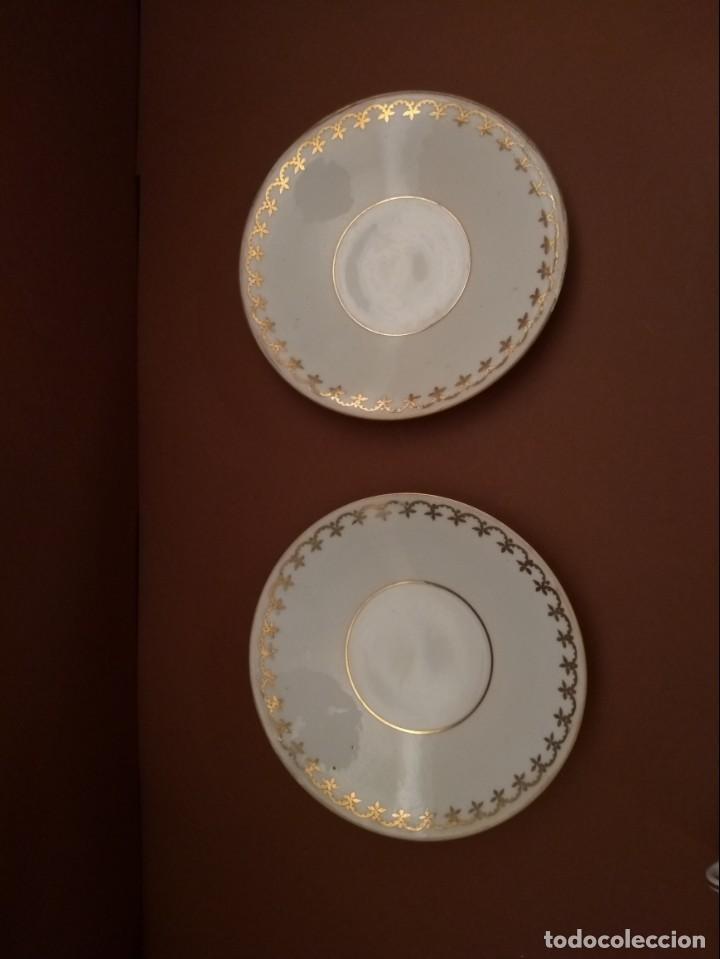 Antigüedades: Juego de 2 platos decoración dorada. Castro Sargadelos. Dolmen - Foto 4 - 142405958