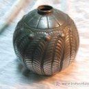 Antigüedades: JARRON ART DECO ESTAÑO FIRMADO PETIZON. Lote 142416982