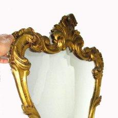 Antigüedades: GRAN ESPEJO CORNUCOPIA ANTIGUO CONCHA BARROCA 95X65CM MADERA AL PAN DE ORO . Lote 142456742