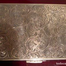 Antigüedades: ANTIGUA CAJITA TARJETERO, EN PLATA CONTRASTADA. Lote 142467374