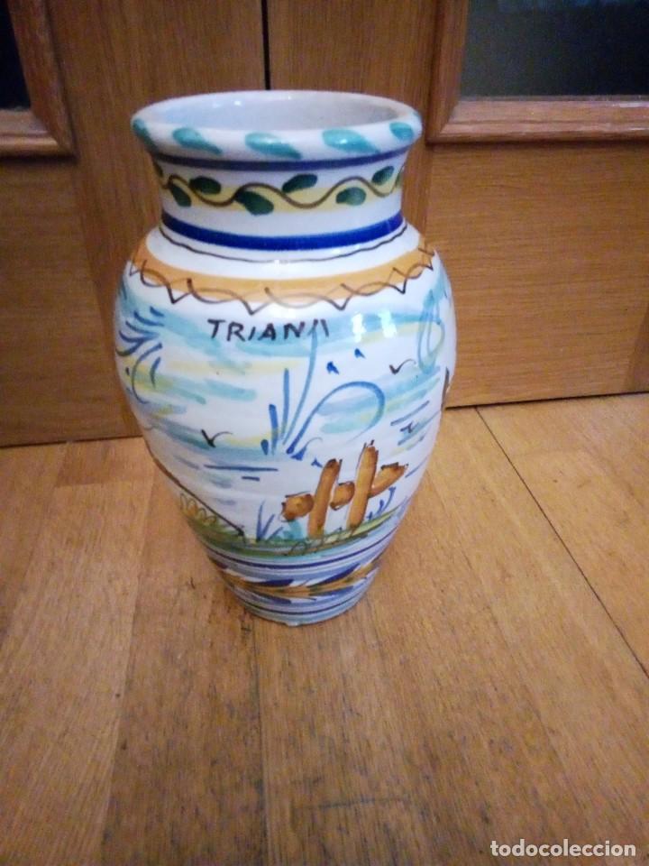 Antigüedades: Jarrón de ceramica de Triana - Foto 2 - 142477734
