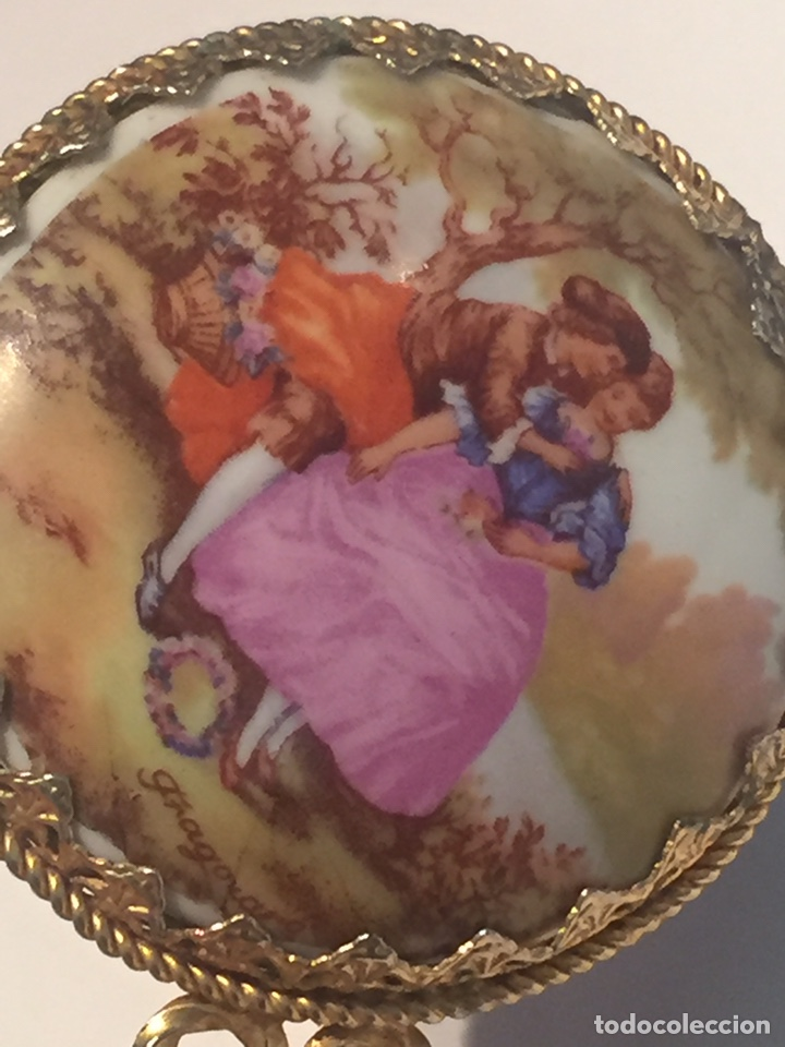Antigüedades: Antiguo espejo de bolso - Foto 2 - 142481197
