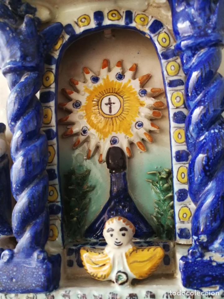 Antigüedades: ANTIGUO RETABLILLO RETABLO CERAMICA TALAVERA RUIZ DE LUNA - 1920 - Foto 5 - 142504790