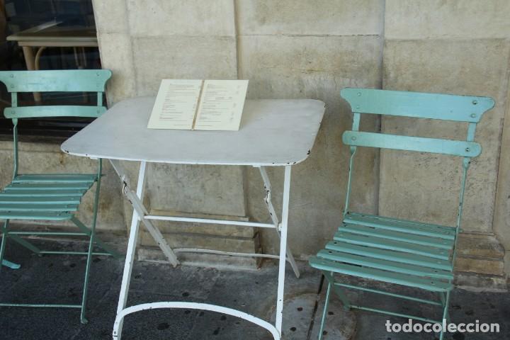 MESA DE TERRAZA ANTIGUA + SILLAS (Antigüedades - Muebles Antiguos - Mesas Antiguas)