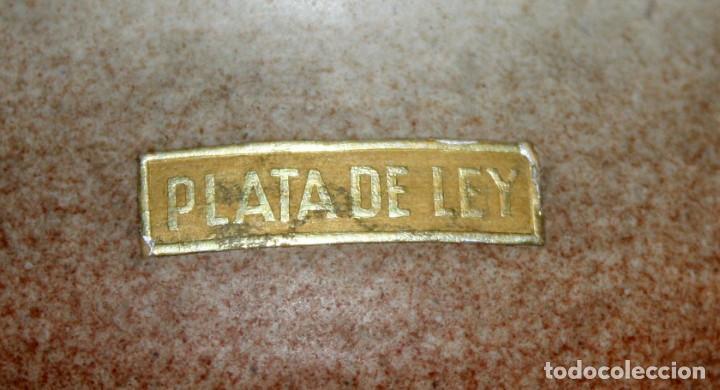 Antigüedades: JARRÓN DE CERAMICA SERRA CON BASE DE PLATA. - Foto 7 - 142509778