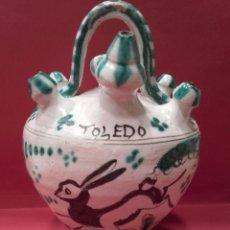 Antigüedades: BOTIJO DE ENGAÑO. CERÁMICA DE TOLEDO.. Lote 142521620