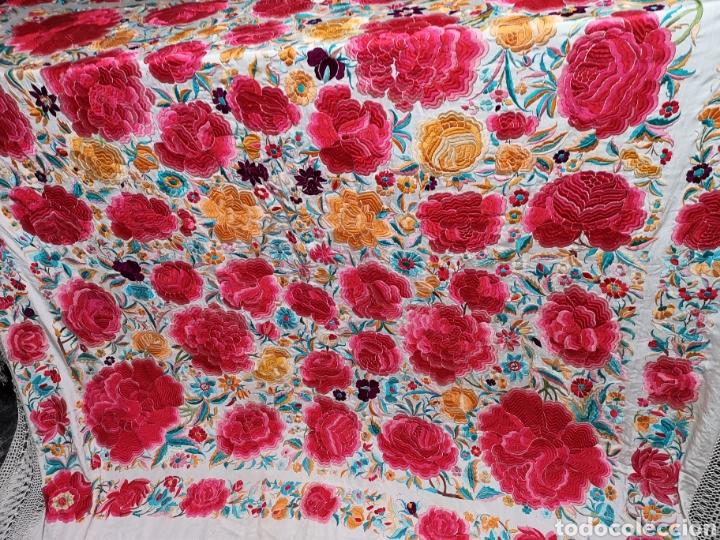 Antigüedades: Maravilloso mantón antiguo con su caja original - Foto 4 - 142547693