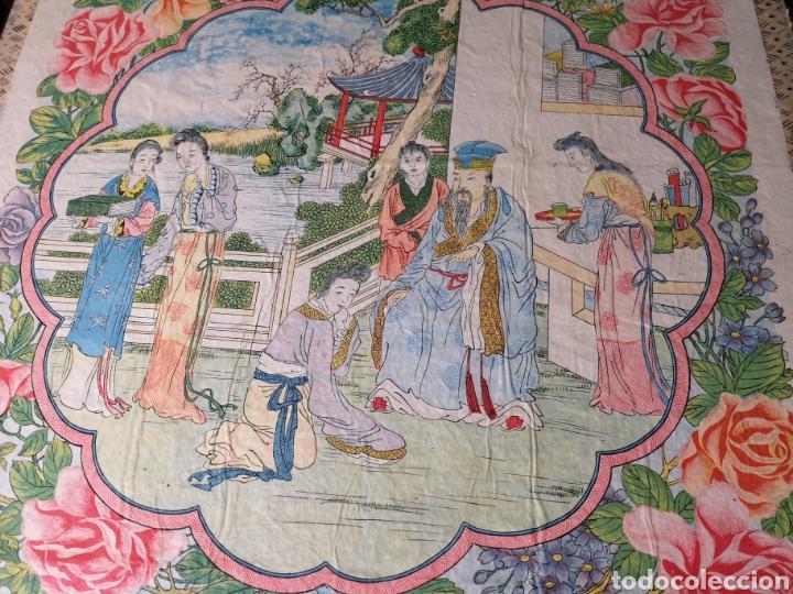 Antigüedades: Maravilloso mantón antiguo con su caja original - Foto 5 - 142547693