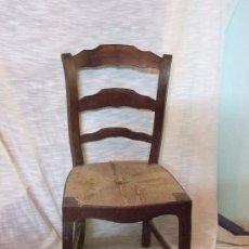 Antigüedades: SILLA DE CAOBA S. XIX. Lote 142584790