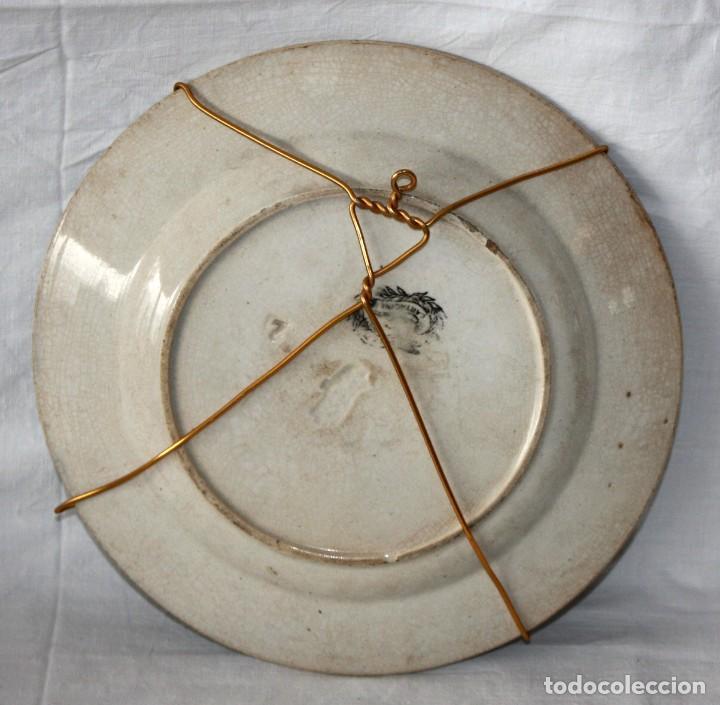 Antigüedades: PLATO DE CARTAGENA -FABRICA LA AMISTAD. - Foto 3 - 142592554