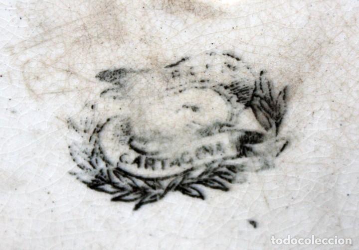 Antigüedades: PLATO DE CARTAGENA -FABRICA LA AMISTAD. - Foto 5 - 142592554