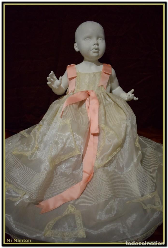 TRAJE DE CRISTIANAR PARA BAUTIZO EN ORGANDÍ (Antigüedades - Moda y Complementos - Infantil)