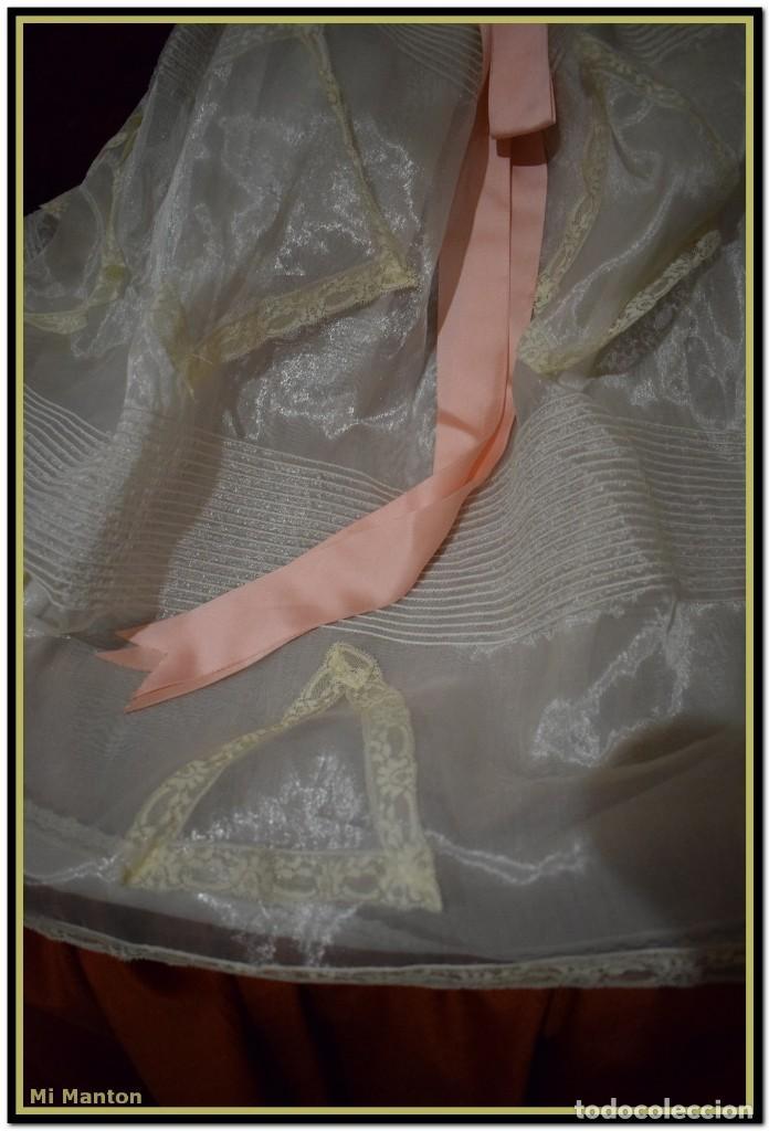 Antigüedades: Traje de cristianar para bautizo en organdí - Foto 3 - 142622174