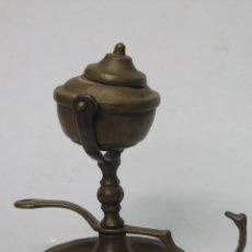 Antigüedades: LAMPARA ACEITE DE BRONCE. Lote 142640274