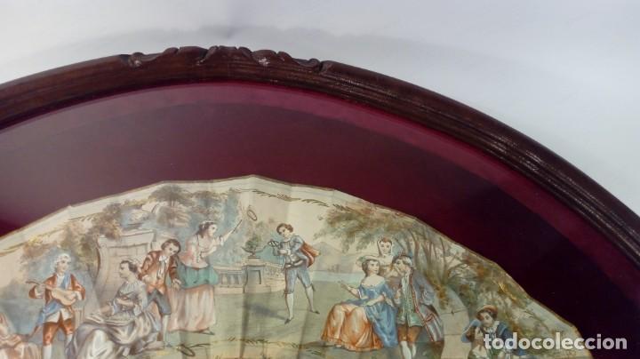 Antigüedades: ABANICO ISABELINO, VARILLAJE EN NÁCAR DE ORNAMENTACIÓN FLORAL. SEGUNDO TERCIO S. XIX. - Foto 24 - 142645614