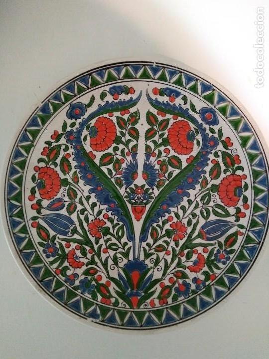 PLATO CERÁMICA GRIEGO (Antigüedades - Porcelanas y Cerámicas - Otras)