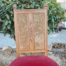 Antigüedades: SILLA DE HAYA CON RESPALDO DE REJILLA. Lote 142670586