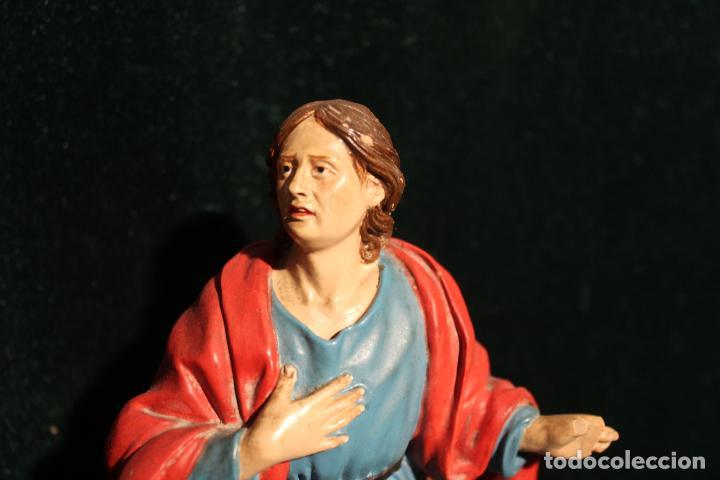 Antigüedades: ESCULTURA SANTO EN BARRO TARRACOTA - Foto 4 - 142670894